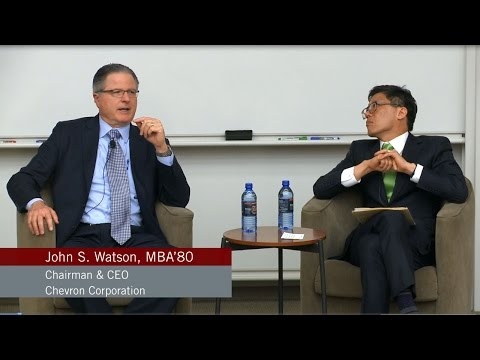 "Chevron CEO John S. Watson on ""Fueling Better Decisions"" 