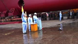 2012.3.9 三菱重工業(株)神戸造船所 最後の進水式