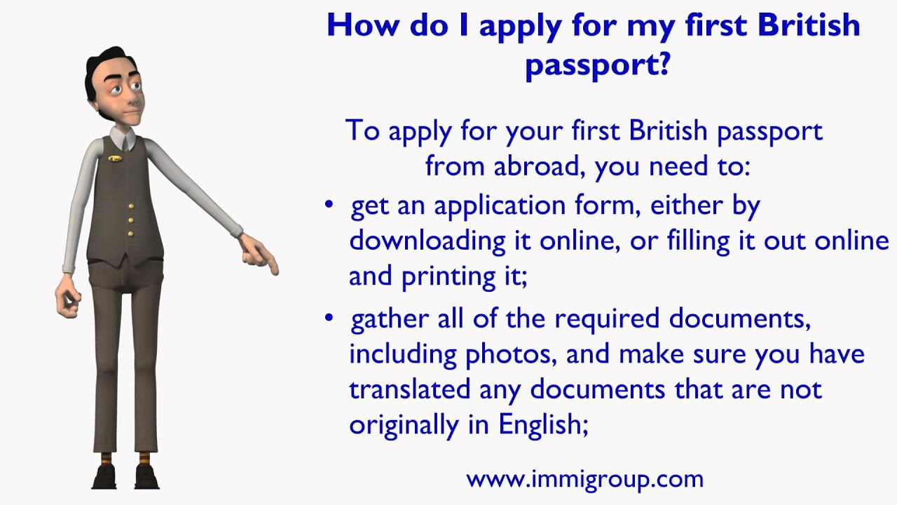 How Do I Apply For My First British Passport Youtube