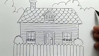 Mewarnai Gambar Rumah Sederhana Untuk Anak Tk Sekitar Rumah