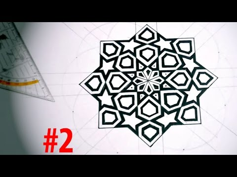 How To Draw Islamic Art - 8 Phases Of The Moon #2