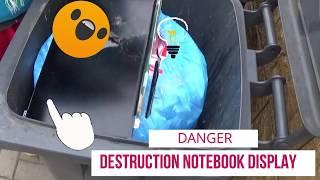 Notebook display destruction - Acer Aspire V Nitro - crash test