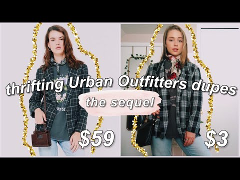 THRIFTING URBAN OUTFITTERS DUPES (the sequel)