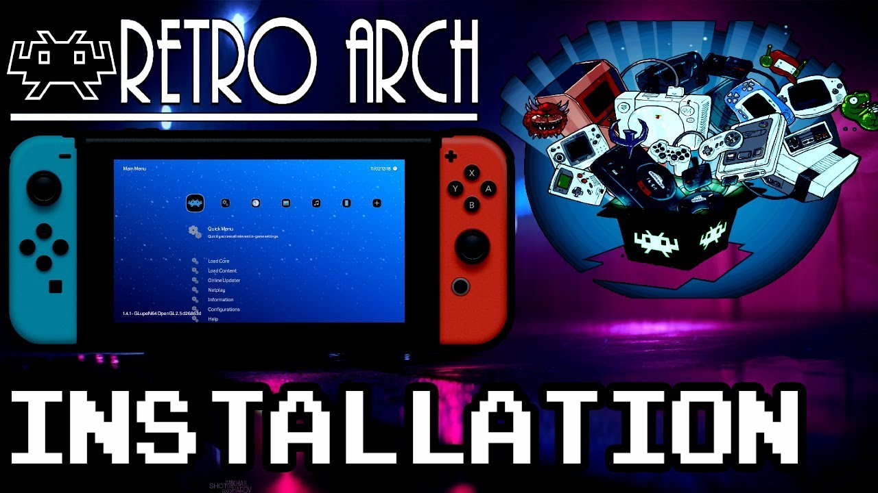 HOW TO INSTALL RetroArch 1 7 5 for NINTENDO SWITCH (  NSP &  NRO ) DOWNLOAD