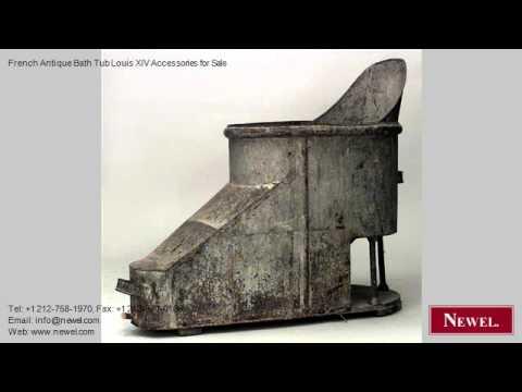 French Antique Bath Tub Louis XIV Accessories for Sale