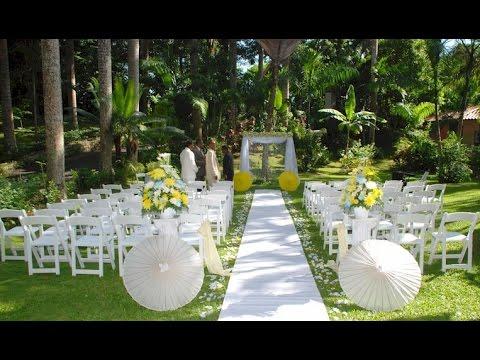 Garden Wedding Ideas - YouTube