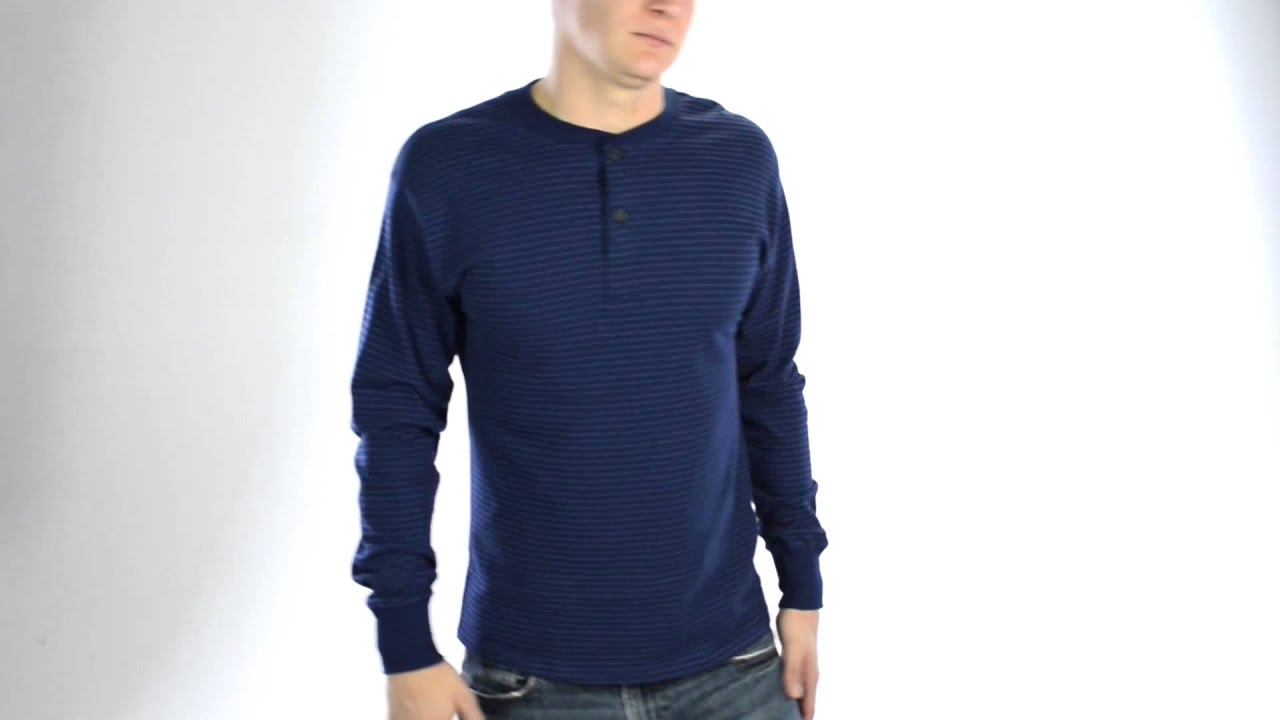 Hanes Henley T-Shirt - Cotton, Long Sleeve (For Men) - YouTube
