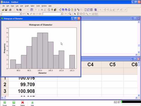 Creating a Simple Histogram in Minitab