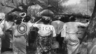 Japanese troops and tanks advance to Mandalay, Burma,  during World War II. HD Stock Footage