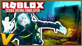 COSA C'È SUL FONDO DELL'OCEANO? 🐚:: Scuba Diving Simulator Roblox inglese