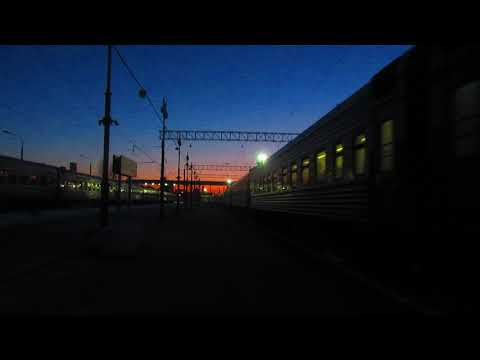 Отправление ЭП20-056 с поездом№741В Москва-Брянск с Киевского вокзала Москвы 18.03.2018