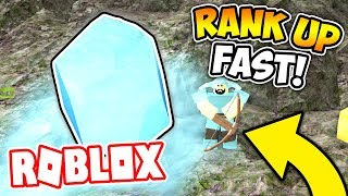 FASTEST WAY TO RANK UP AND GET CRYSTAL ARMOR! (ROBLOX BOOGA BOOGA)