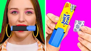 HOW TO SNEAK FOOD INTO CLASS || Funny Food Hacks And Tricks by 123 Go! Live
