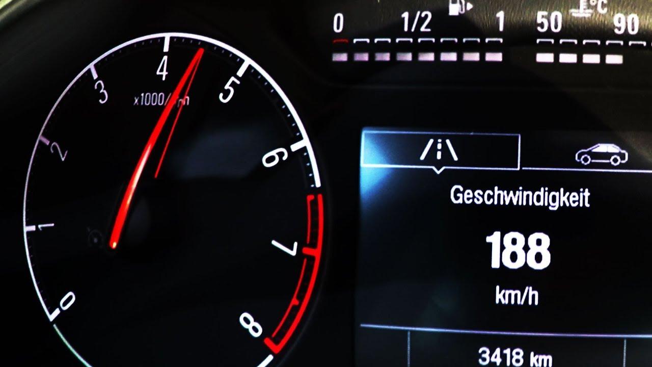 2018 Opel Corsa 1 0 Turbo 115 PS 0-100 kmh kph Tachovideo Beschleunigung  Acceleration