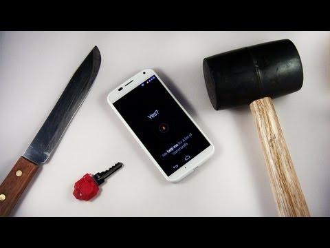 Moto X Hammer & Knife Scratch Test