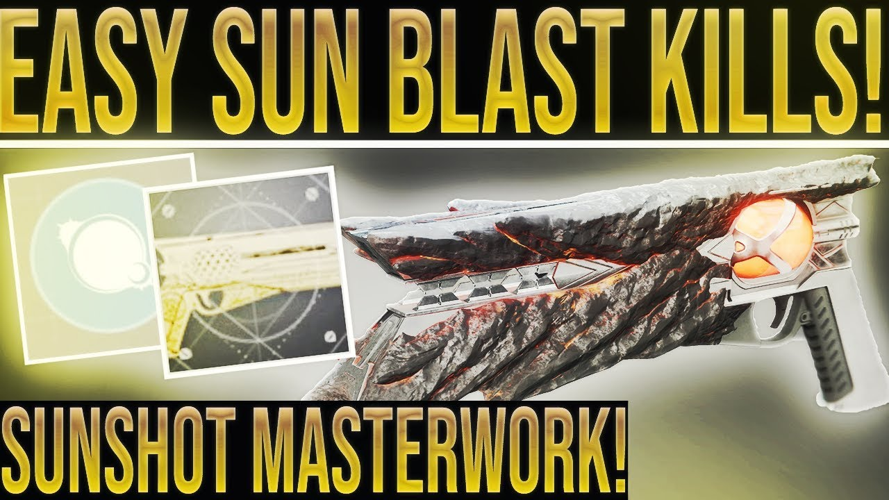 Destiny 2  EASY SUNSHOT BLAST KILLS! How To Farm Sunshot Catalyst Blast  Kills Easily!