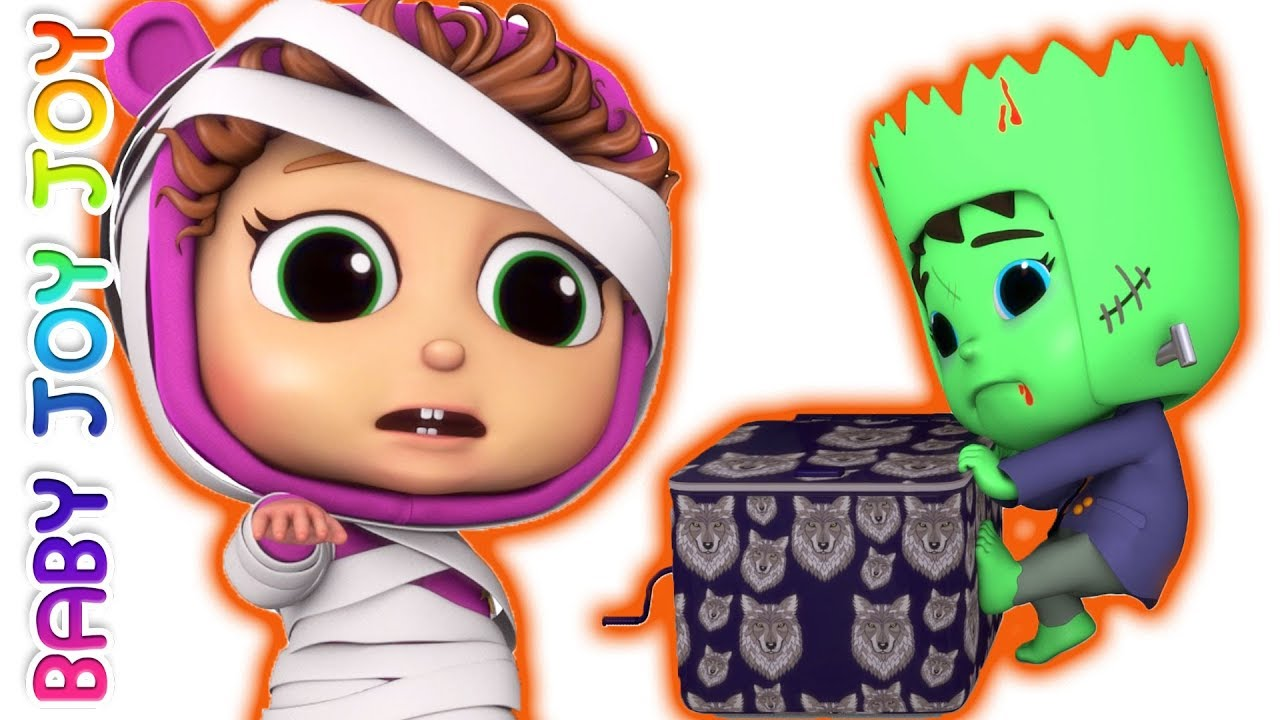 pop goes the weasel | halloween surprises | 5 little babies - youtube