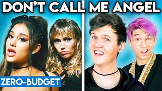 ARIANA GRANDE, MILEY CYRUS, & LANA DEL REY WITH ZERO BUDGET! (Don't Call Me Angel PARODY)