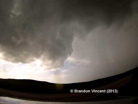 South Dakota Supercell Time-Lapse on May 25, 2013