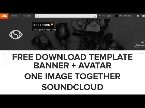 SoundCloud Banner + Avatar in 1 Image Vision Tutorial FREE DOWNLOAD PHOTOSHOP TEMPLATE