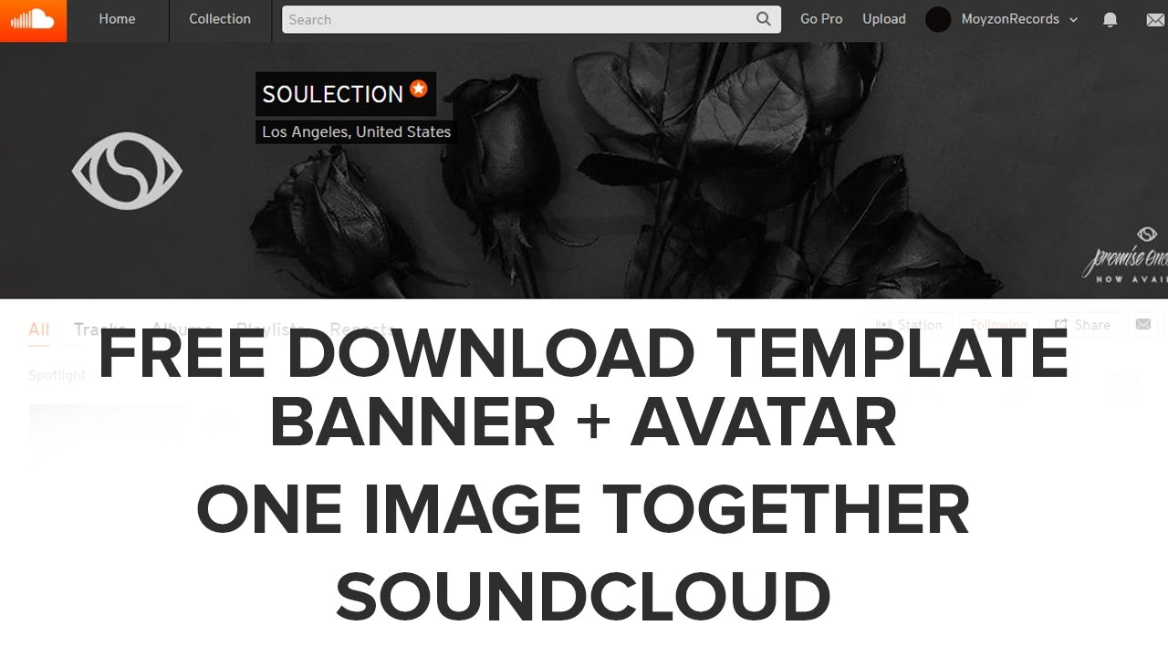 soundcloud banner avatar in