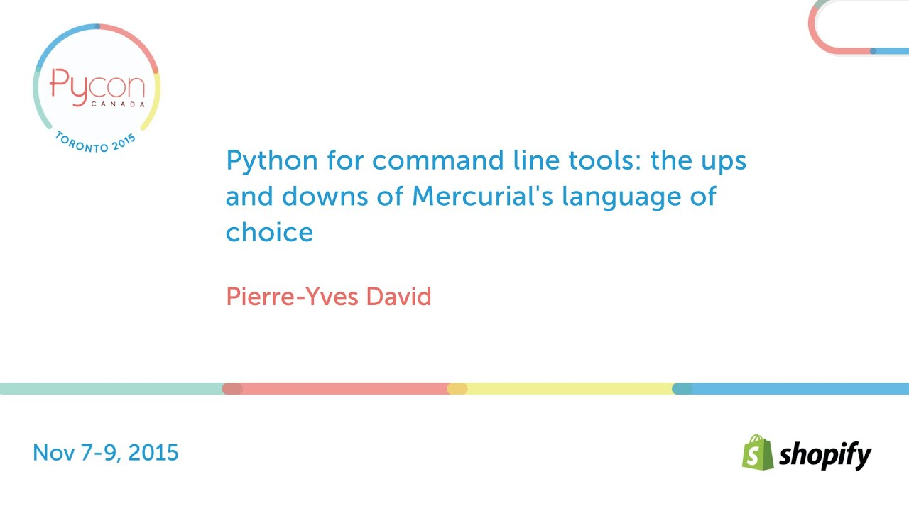 Image from Python for command line tools: the ups and downs of Mercurial's language choice