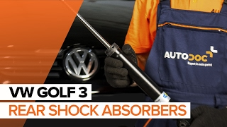How to change rear shock absorbers on VW GOLF 3 TUTORIAL | AUTODOC