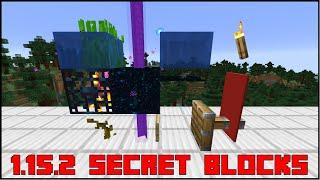 Minecraft 1 15 2 All Secret Blocks Youtube