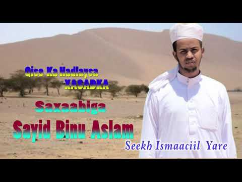 Sayid Binu Aslam  XASADKA  Sheekh Ismaaciil Yare