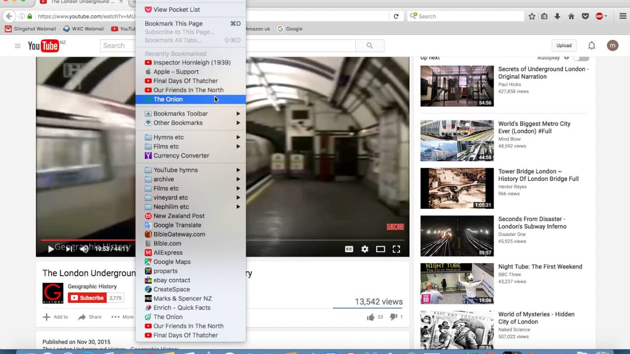 Get Rid Of Recently Bookmarked From Bookmarks Menu Firefox Mac  Mikeuknz  02:04 HD