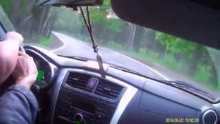 Обучение вождению на машине ученика урок № 10 часть 2, скоростные  прямые, опасные повороты.