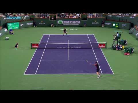 Andy Murray hits incredible lob past Vasek Pospisil