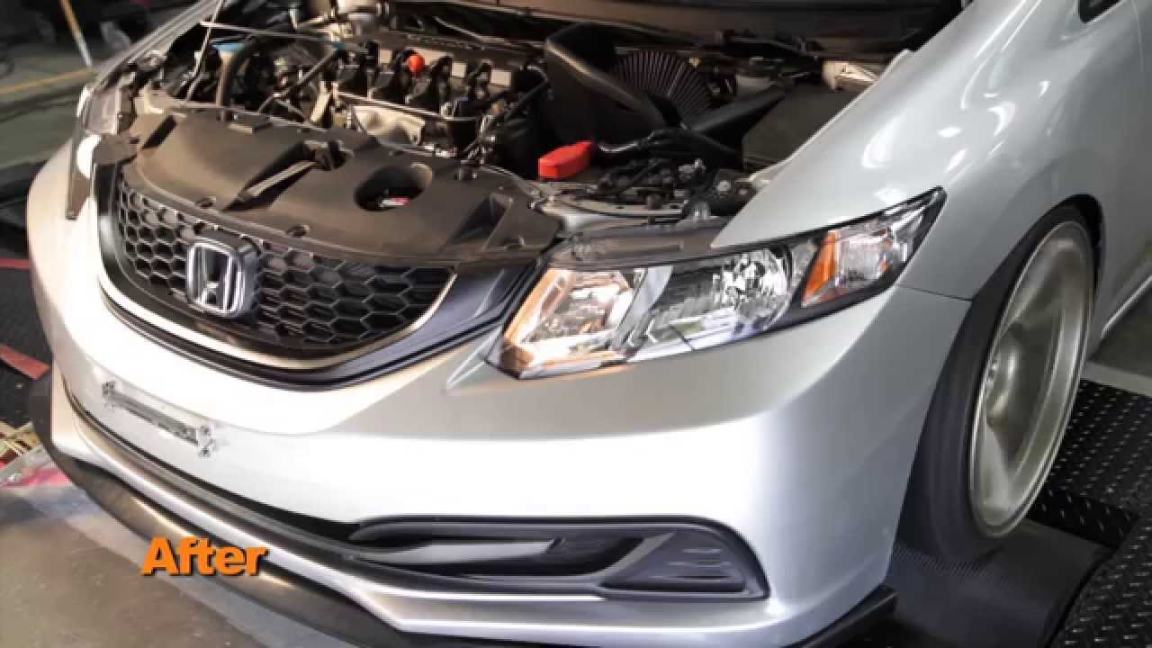 honda civic  air intake installation youtube