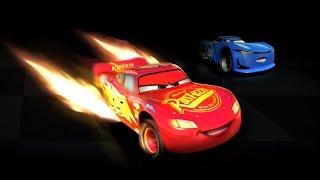 Şimşek McQueen Örümcek Adam Arabalar 3 Oyununda Cam Spinner ile Yarışıyor Çizgi Film İzle