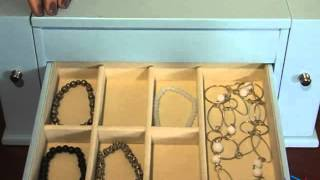 Delia Blue Jewelry Box 15 75w X 7 5h In - Product Review Video