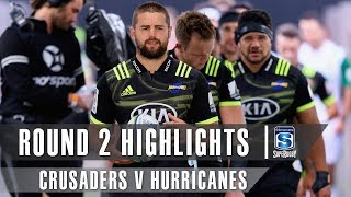 ROUND 2 HIGHLIGHTS: Crusaders v Hurricanes – 2019
