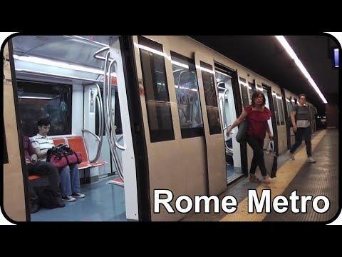 2 x Metro Trains - Ottaviano Station, Rome