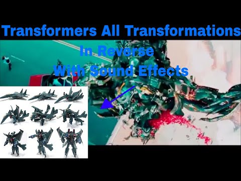 Transformers All Transformations In Reverse With Sound Effects