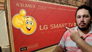 "Unboxing - Smart TV LED 43"" LG 43LM6300PSB FULL HD Wi-Fi Inteligência Artificial"