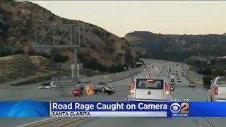 DISGUSTING NEWS REPORT OF BIKER ROAD RAGE (California Biker Kicks Car)
