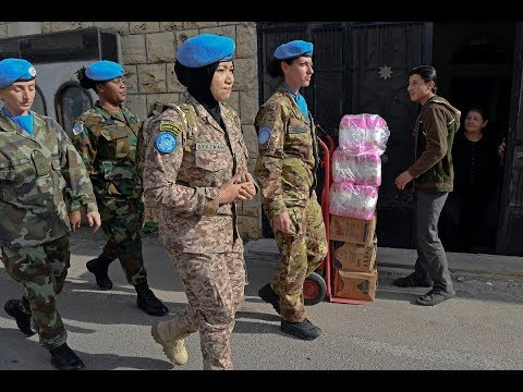 UNIFIL Female Assessment/Analysis Support Team (FAST) patrols in Rmeish
