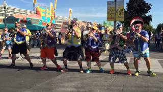 2015 Indiana State Fair - Circle City Sidewalk Stompers Clown Band - Mahna Mahna