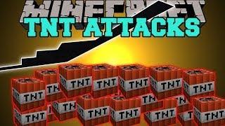 Minecraft: TNT ATTACKS (PLANES THAT DROP TONS OF TNT!) Mod Showcase