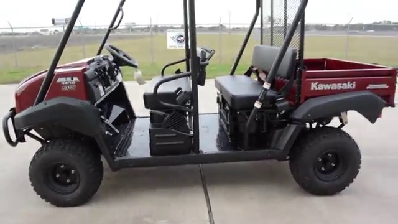 SALE $9,499: 2016 / 2017 Kawasaki Mule 4010 Trans Dark Royal Red Overview  and Review