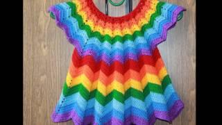 Vestidos Tejidos A Crochet Para Niñas De 1 A 3 Años By