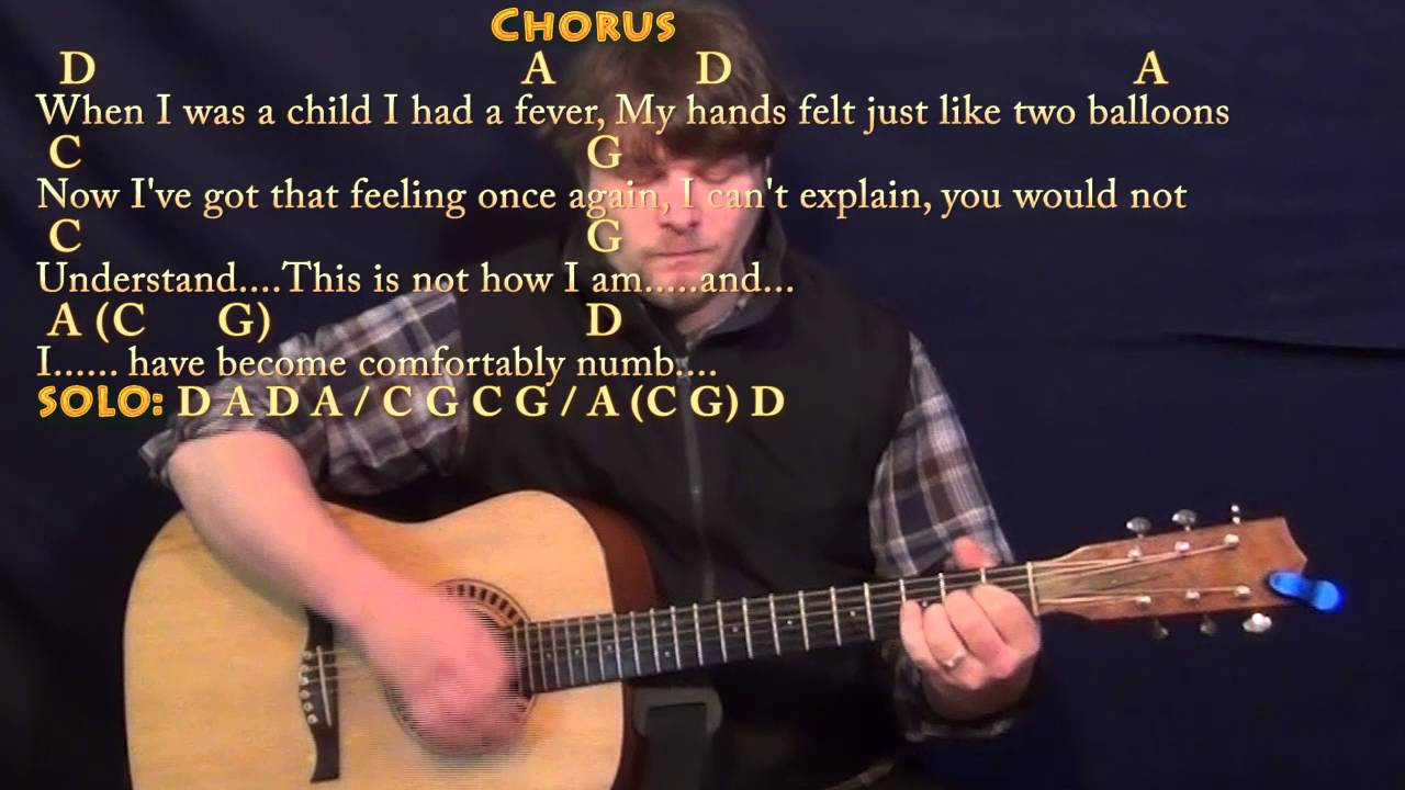 Comfortably Numb Pink Floyd Strum Guitar Cover Lesson With Chords