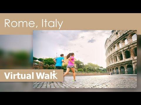 Virtual Walk Rome , Italy Walk Along Vatican City, And Old Roman Buildings