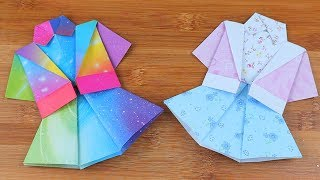 How to Make Easy Origami Skirt | DIY Origami Skirt Easy Tutorial | 5-Minute Paper Crafts