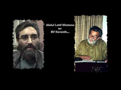 BVK Online Archives 34 -   Latif Khatana on BV Karanth_Hindi