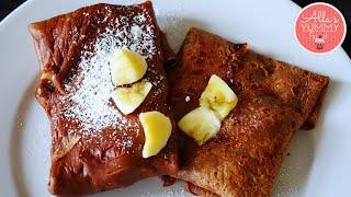 Chocolate Nutella & Banana Crepes/Pancakes | Блинчики с Nutella и бананом